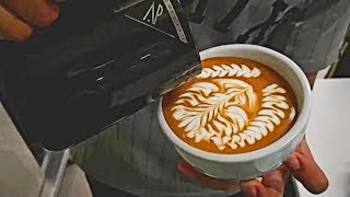 Barista Latte Art Training Oddly Satisfying Video for Stress Relief Compilation! MUST SEE!! #124