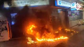 video: Fourteen-year-old shot in clashes between Hong Kong protesters and police in wake of face mask ban