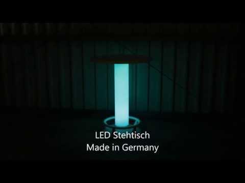 LED Stehtisch, beleuchtete Stehtische mit LEDs