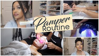 FALL NAILS DONE, HAIR DONE, EVERYTHING DID! PAMPER ROUTINE!