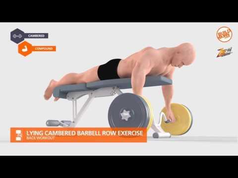 ท่าฝึกกล้ามหลัง Lying Cambered Barbell Row Exercise