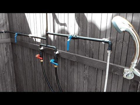 DIY | Luxurious Outdoor Shower – Part 4 [Door & Plumbing] // How-To
