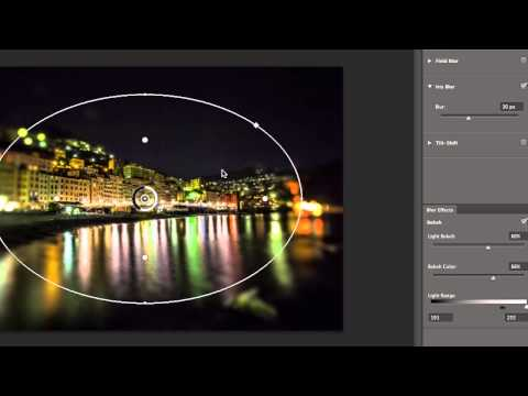 tips and techniques for using tilt shift, iris blur, and field blur in photoshop cs6