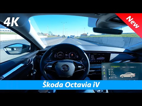 Škoda Octavia iV 2021 - POV Test drive & review in 4K | Hybrid mode CRAZY low fuel consumption!
