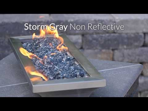 Storm Gray Non-Reflective Fire Glass | Lakeview Outdoors Designs