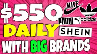 Make $550/Day With BIG Brands Like NIKE - ADIDAS - SHEIN For FREE With Affiliate Marketing
