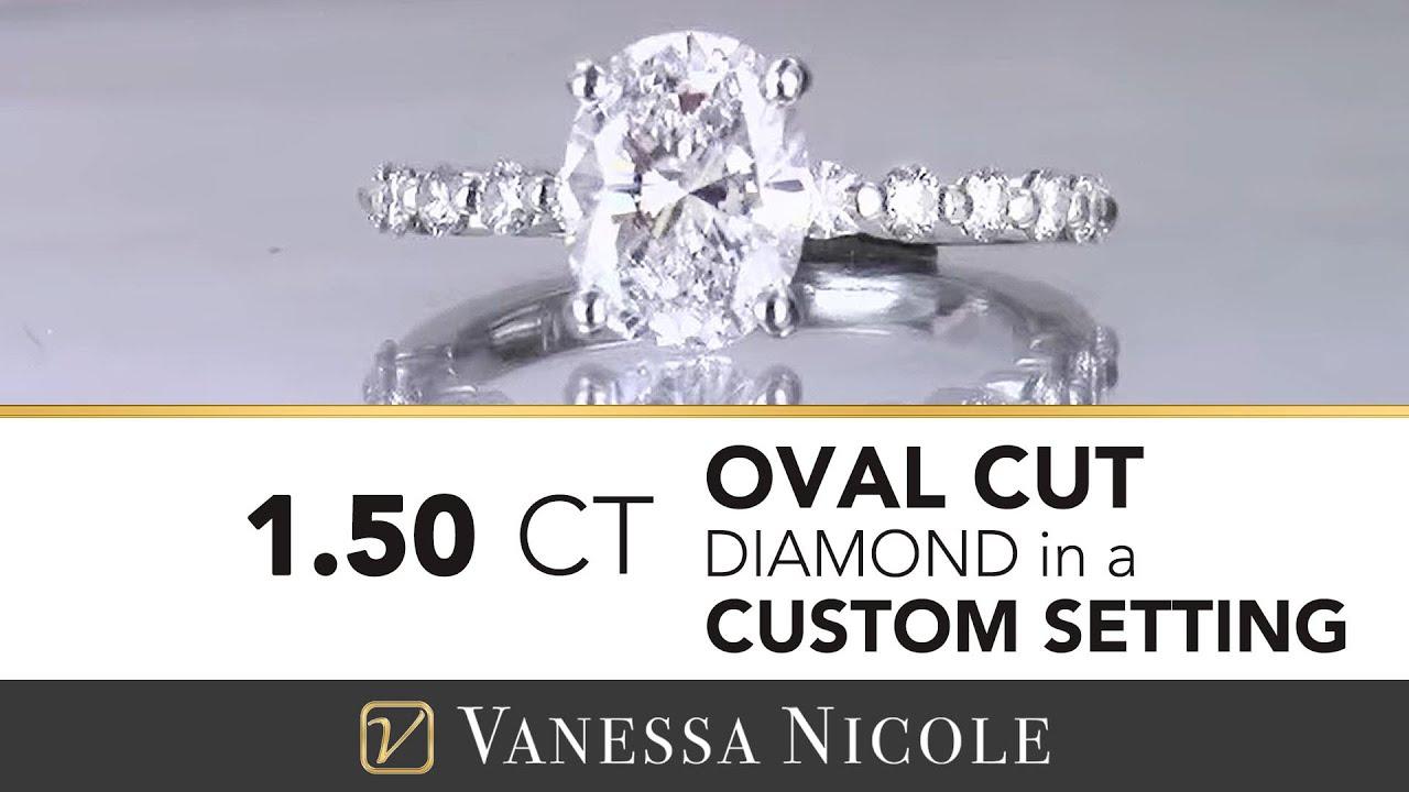 1.50ct Oval Cut Diamond Ring