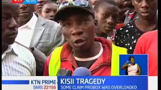 Tragedy in Kisii where seven people have died in a crash on the Kisii-Masimba road