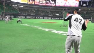 CS舞台裏・デスパイネ、クルーズキャッチボール【広報カメラ】