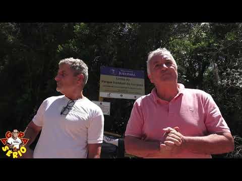 Claudio da Fazenda Meandros acompanhado de perto do Vice Prefeito de Juquitiba Bernardo faz doação de placas para o Parque Jurupará