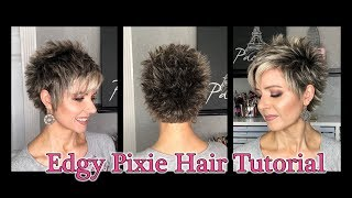 Hair Tutorial: Edgy Pixie Style