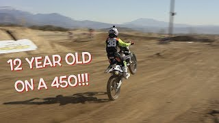 12 YEAR OLD ON A 450!!!