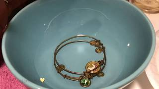 CLEANING ALEX AND ANI BRACELETS | VINEGAR METHOD