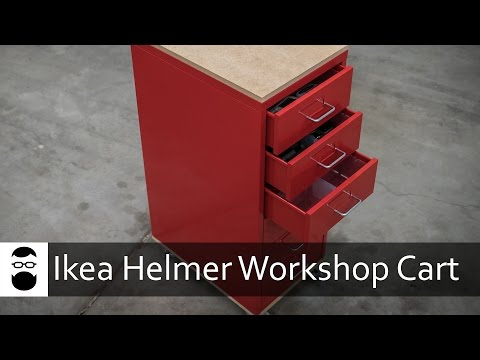 Ikea Helmer DIY Workshop Cart