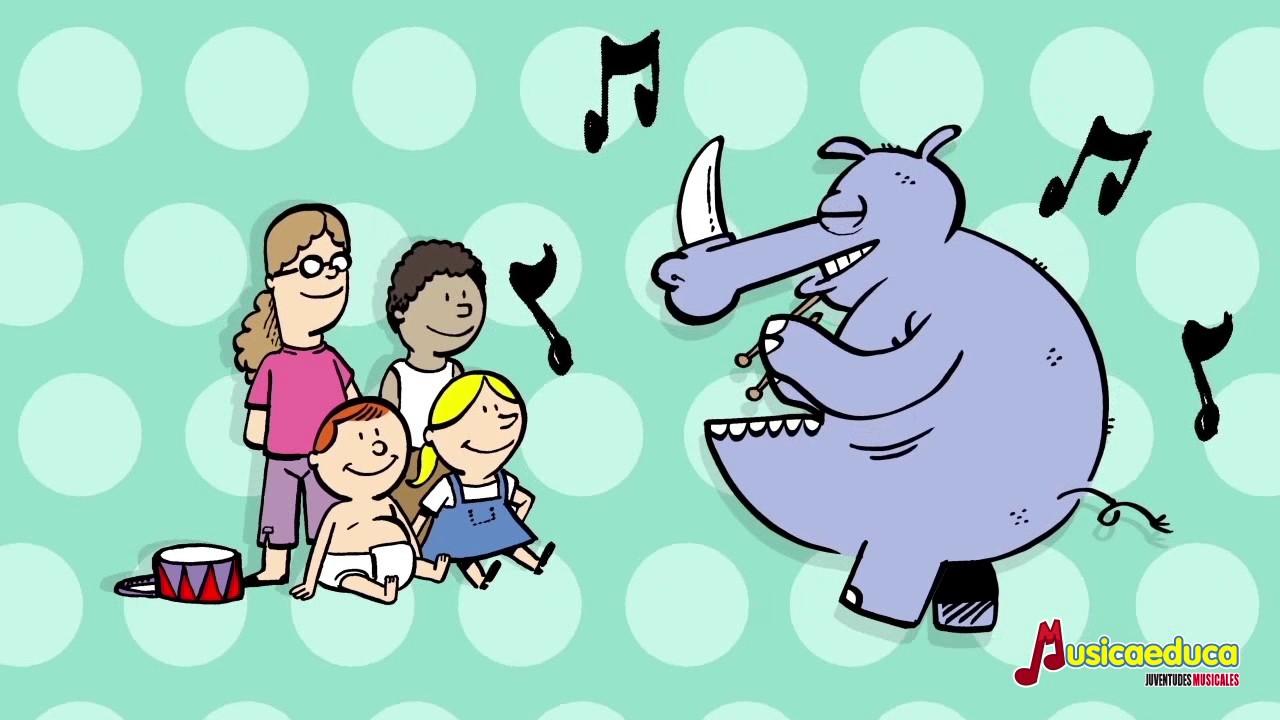 Rinoceronte tambor - Canciones infantiles del Zoo de Musicaeduca