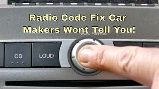 Radio Code Fix Car Makers Wont Tell You, Unlock Radio Without Code Ford BA - BF & Territory