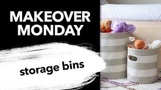 Sew Round Fabric Storage Bins
