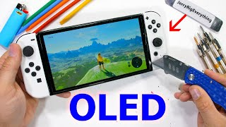Is the new OLED Nintendo Switch Durability Test - made from METAL?