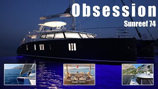 "Walkthrough of a Sunreef 74 Catamaran for Sale in Tortola ""Obsession"" Part 1 Boat Exterior"