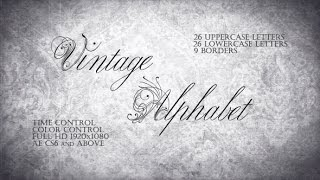 Vintage Alphabet - Handwriting Font | After Effects Template