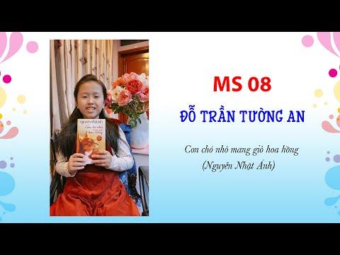 MS 08 Đỗ Trần Tường An - Lớp 4A6 Trường TH Kim Đồng. Giới thiệu sách: Con chó nhỏ mang giỏ hoa hồng