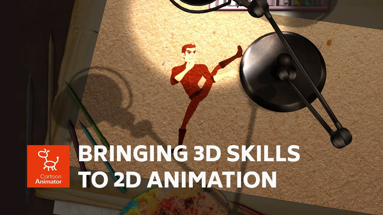 2d animation software demo video - creative 2D animation in 3D