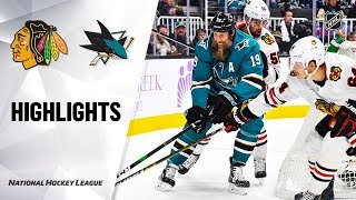NHL Highlights | Blackhawks @ Sharks 11/05/19