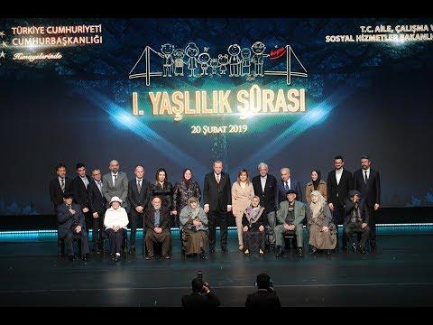 Cumhurbaşkanımız Sayın Recep Tayyip Erdoğan'ın I. Yaşlılık Şurası Konuşması
