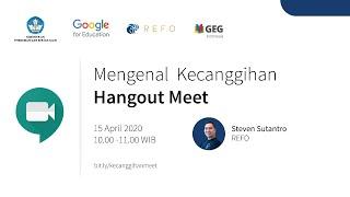 """Topik ini akan mengajarkan bagaimana menjadwalkan pertemuan, mengaktifkan mic dan kamera, mematikan mic dan kamera, """"""""share screen"""""""", """"""""grid addons"""""""" dan """"""""nod addons"""""""" pada Hangout Meets. Pembicara : Steven Sutantro Indonesia Edu Webinars merupakan rangkaian pelatihan online secara gratis bagi para pendidik di seluruh Indonesia. Pelatihan ini bertujuan untuk mengajarkan keahlian digital dasar dalam menavigasi perangkat […]"""