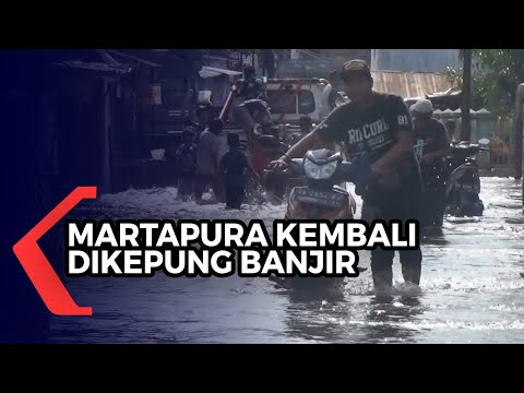 Martapura Kembali Dikepung Banjir, 36 Desa Masih Terendam