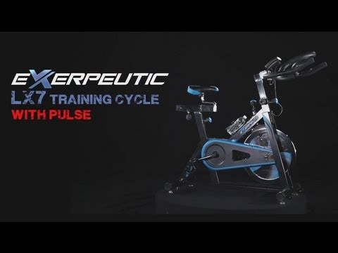 1220 - Exerpeutic LX7 Training Cycle with Computer Monitor and Heart Pulse Sensors