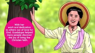 A vida de Guadalupe Ortíz, em desenho animado