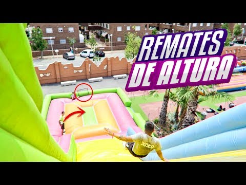 REMATES de ALTURA en CASTILLO HINCHABLE! ¡RETO FÚTBOL!
