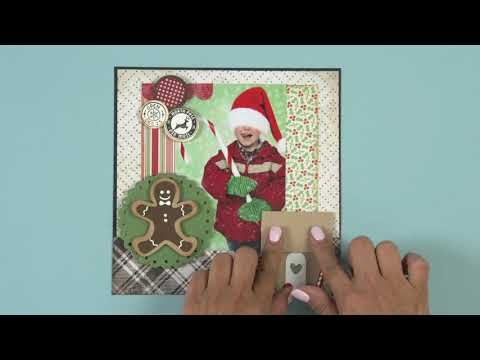 How to Make This Christmas Scrapbook Page!