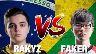 RAKYZ (MID LAST KINGS) VS FAKER - RANKEDS ÉPICAS EN BRASIL