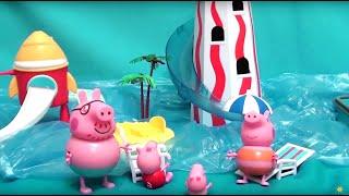 Мультфильм игрушками Свинка Пиги Pig Аквапарк