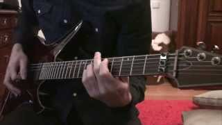 "Avenged Sevenfold- ""Crimson Day"" Guitar Cover w/ solo"