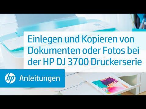 Einlegen und Kopieren von Dokumenten oder Fotos bei der HP DeskJet 3700 Druckerserie