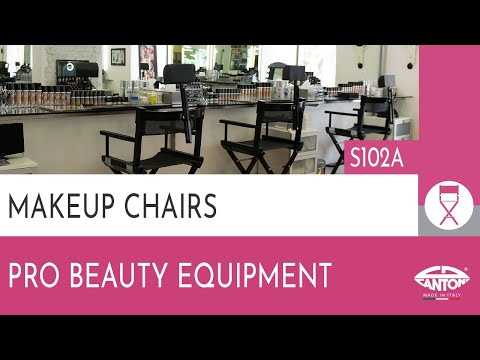 video SET ALU MAKEUP CHAIR S102A + HEADREST  + TROLLEY TRAVEL BAG