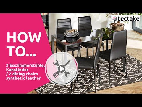 Esszimmerstühle Aufbau | tectake