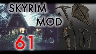 Skyrim: Обзор модов #61 - Populated Lands Roads, Forts Towers, Beginner Shack, Horker Weapon Pack