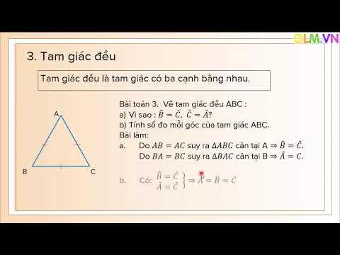 Chuyên đề.Toán 7. Tam giác cân