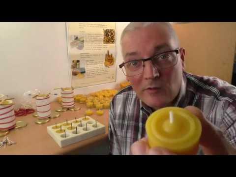 7. Teelichter aus Bienenwachs herstellen