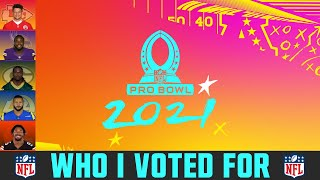 NFL Pro Bowl Voting 2021 - My Pro Bowl Picks (NFL 2020-21 Season)