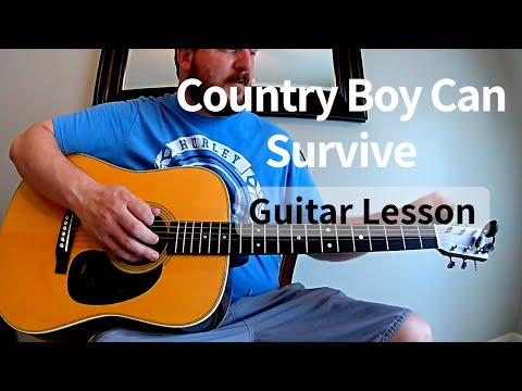 A Country Boy Can Survive Guitar Tutorial / Lesson