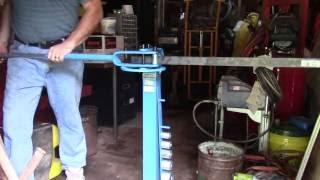 """Making 90 deg bends in 1/4"""" steel"""