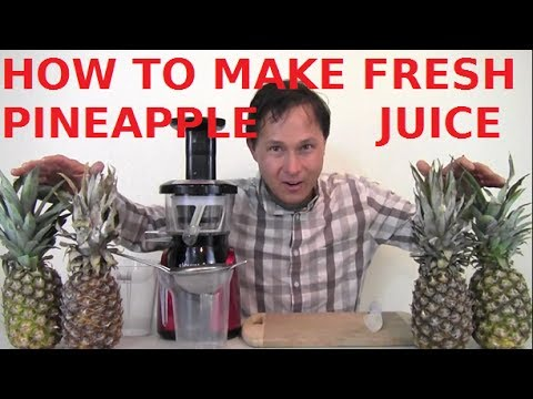 Video How to Make Fresh Pineapple Juice in the Slowstar Juicer