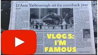 I'M FAMOUS! I'M IN THE PAPER! (vlog 5)