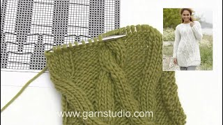 How to knit the cables (after A.4) on jumper in DROPS 173-17