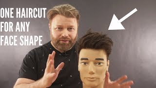 ONE Haircut For Any Face Shape - TheSalonGuy